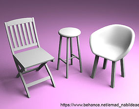 Chairs 3D print model
