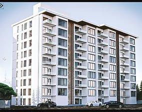 architecture bungalow apartment 3D model
