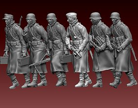 3D print model ww2 German soldiers