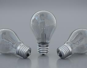 Incandescent bulb 3D model VR / AR ready