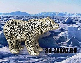 Polar bear Voronoi 3D print model