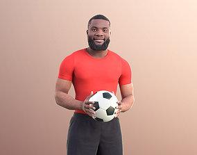3D model Gabriel 10920 - Black Man Holding A Ball Playing