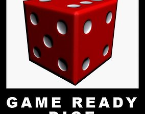 Game Ready Dice 3D model