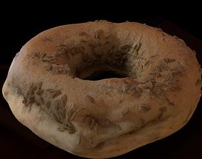 Caraway Bagel Bread 3D