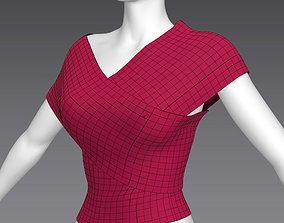 woman cloth A-pose 3D asset