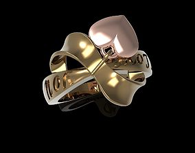 Ring Gold woman women ring 3D printable model template