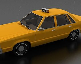Ford Fairmont 4dr sedan 1978 Taxi Unmarked 3D model