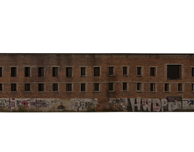 house 3D Derelict Wall