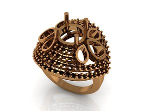 3D printable model mountain ring