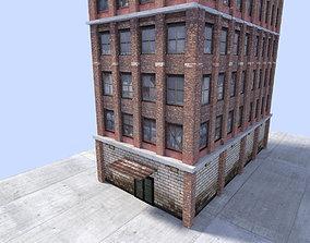 low poly town building 2 3D asset