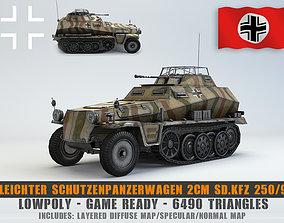 3D model Low Poly SdKfz 250 9 2cm Leichter