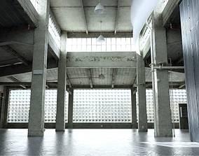 3D Old Empty Garage