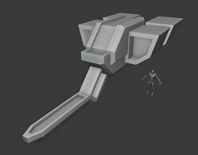 Space freighter 3D model