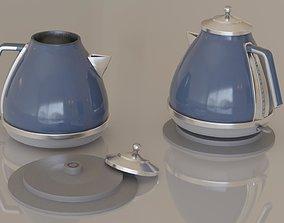 Contemporary colourful kettle1-blue 3D asset