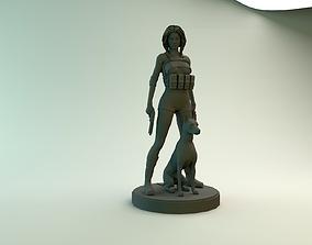UMBRELLA with DOG CHEAP 3D print model