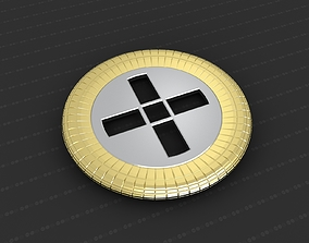 Cross Medallion 3D print model bronze