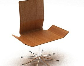3D Wooden Swivel Base Chair