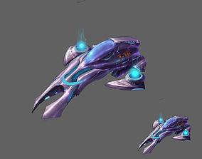 3D model Small attack ship 02