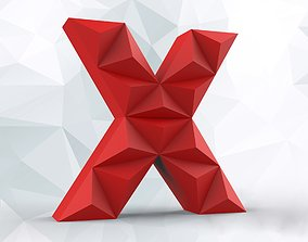3D print model Lowpoly letter X