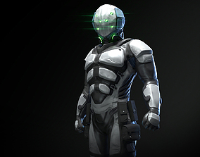 Character Scifi Recon 3D model