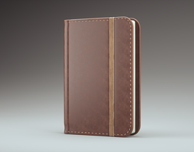 Leather book 3D