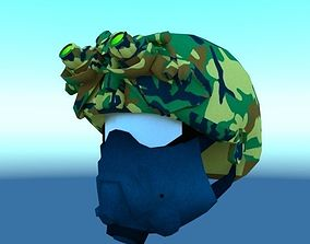 3D model Combat Helmet with Night Vision goggles