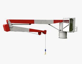 3D asset Ship Deck Crane 2