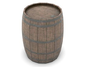 beer Wooden Barrel 3D model realtime PBR