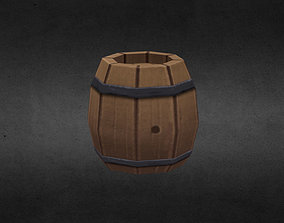 Barrel 3D model realtime