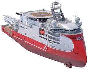 Light Construction Vessel Seven Viking 3D