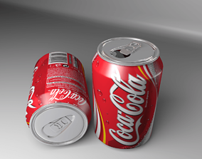 3D model Coca-cola Soft Drink Can
