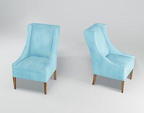 Blue Lounge Chair 3D asset
