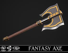 Fantasy Axe 1D 3D model