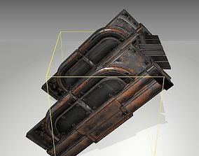 3D model Futuristic Stairs - 22 - Rusty Textures