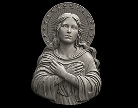 3D print model Mary Immaculate Pendant