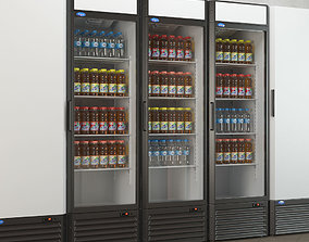Refrigerated cabinets 3D