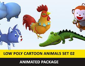 Cartoon Cute Animals Low Poly Pack - 02 AR VR 3D asset 1
