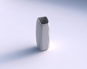 3D printable model Vase arc rectangle with low-polygon