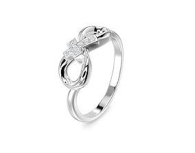 3D print model gold infinity ring fashion-ring