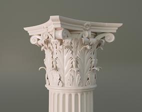 3D building-component Corinthian column