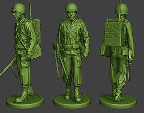 American engineer soldier ww2 walk A9 3D printable model