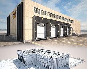 3D asset Cargo Building TIR Low Poly2