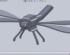 dragonfly robot 3D print model
