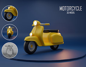 Scooter Cartoon 3D model game-ready
