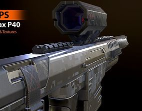 3D asset FPS SynTax P40 - Model and Textures