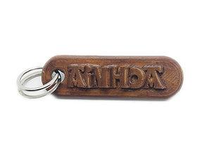AINHOA Personalized keychain embossed 3D print model