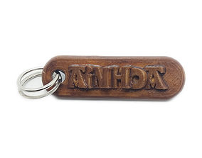 AINHOA Personalized keychain embossed 3D print model