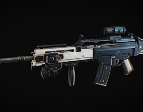 3D model Assault Rifle HK36