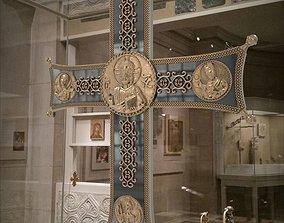 catholicism 3D printable model Byzantine processional cross