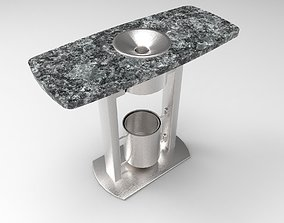 Table with ashtray 3D model